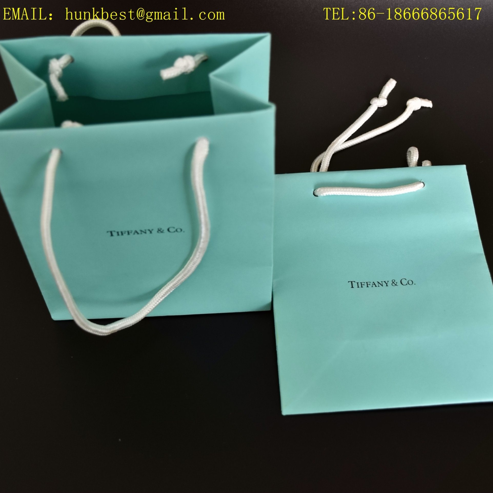 China New Design Plain Brown Paper Bags With Handles With Black Hot