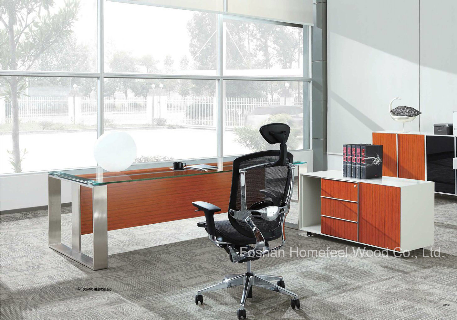 Hot Modern Office Furniture Executive Glass Desk Hf Sia002