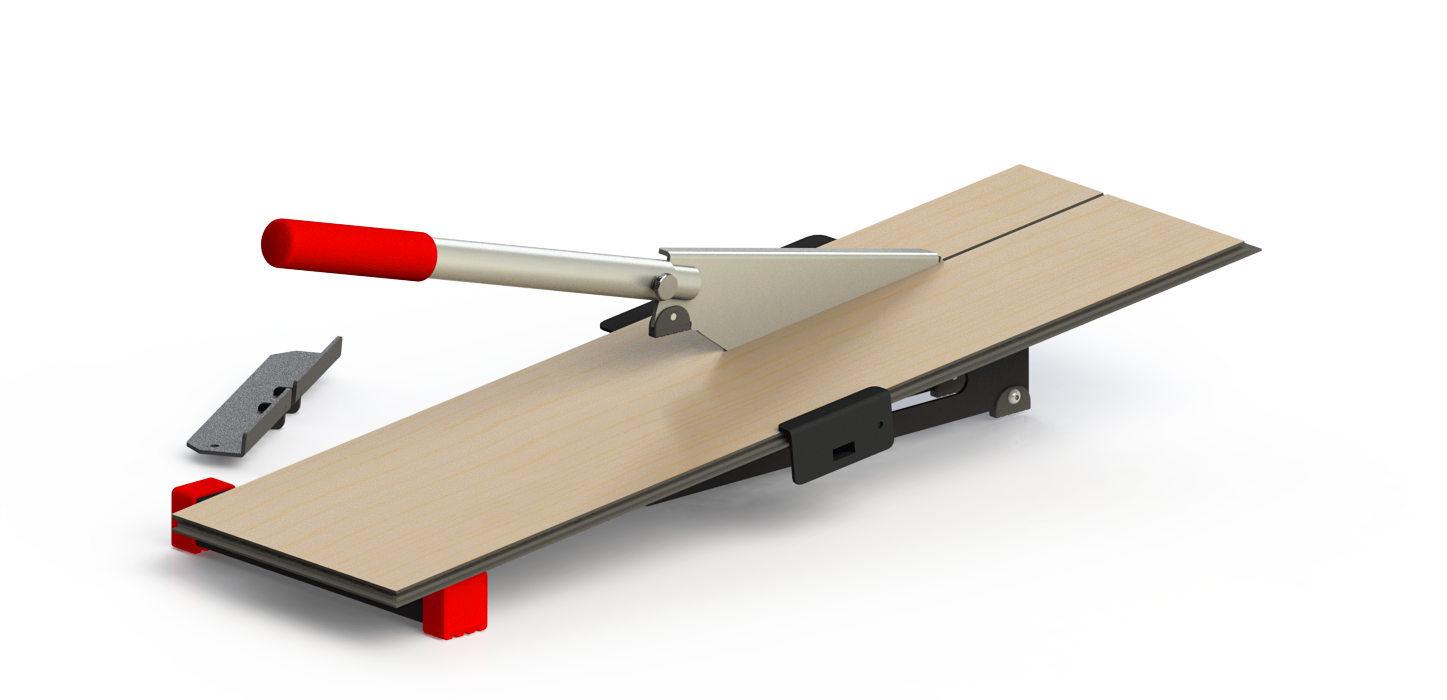 Vinyl flooring cutter machine