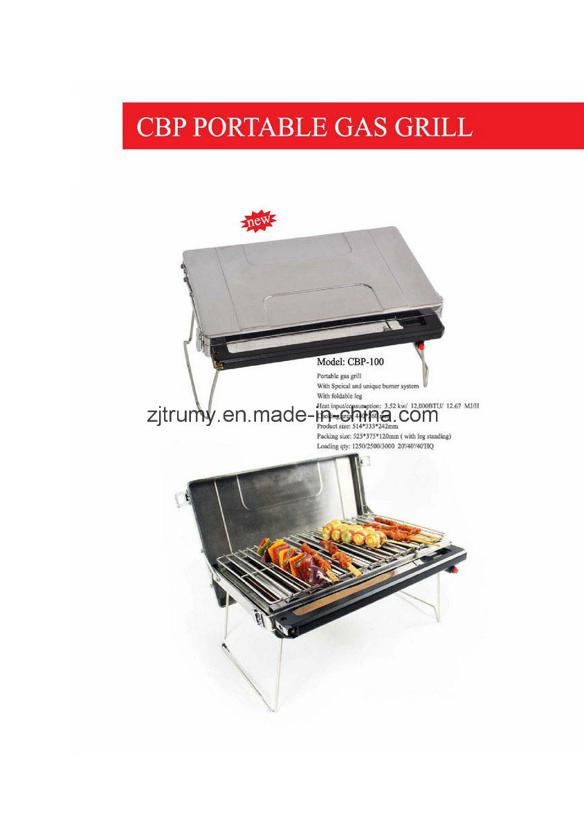 Portable Mini Gas Bbq Grill For Camping