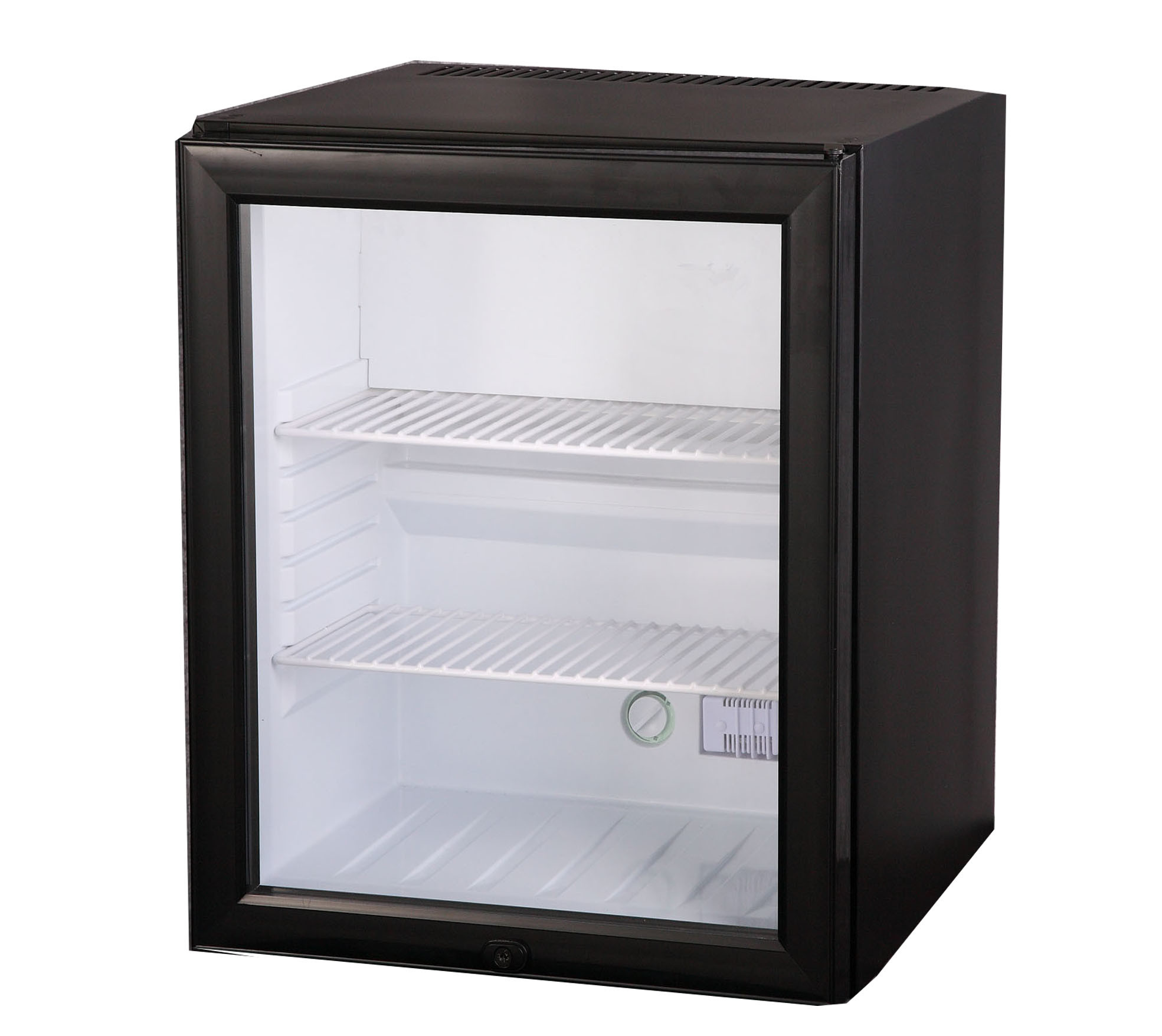 China Hotel Glass Door Automatic Defrosting Mini Bar Fridge For Red