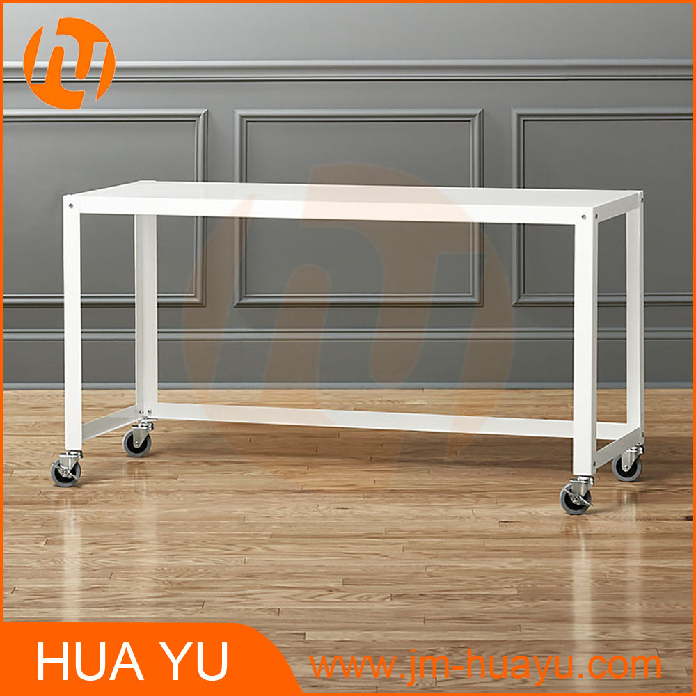 China Soho Office Furniture White Metal Rolling Workbench Console Table    China Console Table, Office Furniture