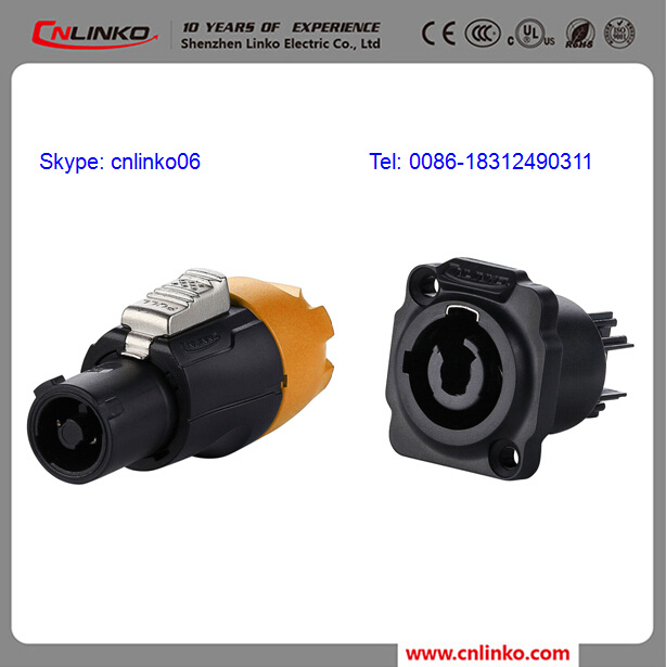 China Ce Certification Waterproof Ip67 3 Pin Connector Powercon 20a
