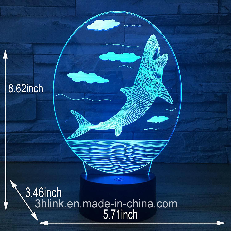 3D Shark Lamp Cool Best Birthday Gifts For Boy Boyfriend