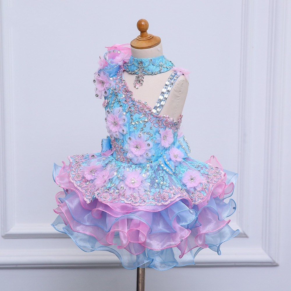 China Pretty Sky Blue Ball Gown Flower Girl Dresses Photos