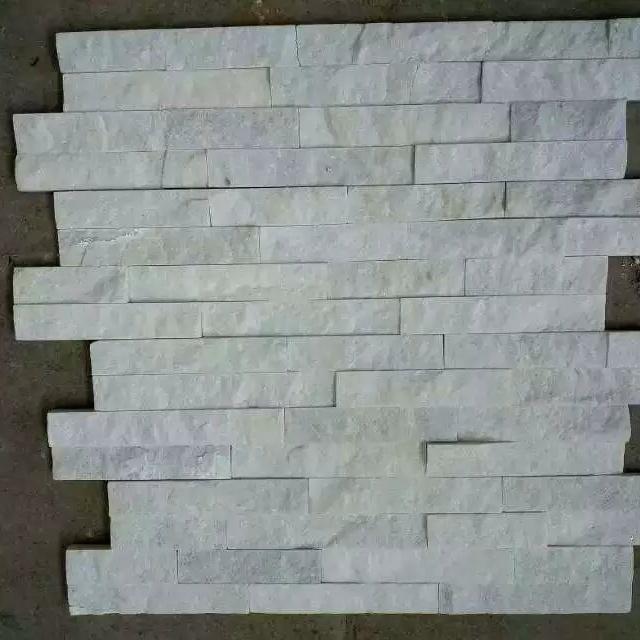 China Natural Pure White Quartzite Ledge Wall Stone