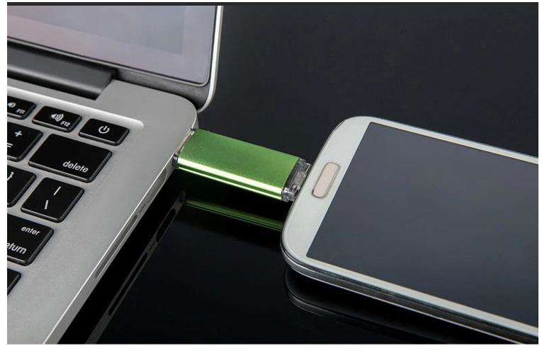 4GB-64GB Dual OTG USB Flash Drive for Smart Phone