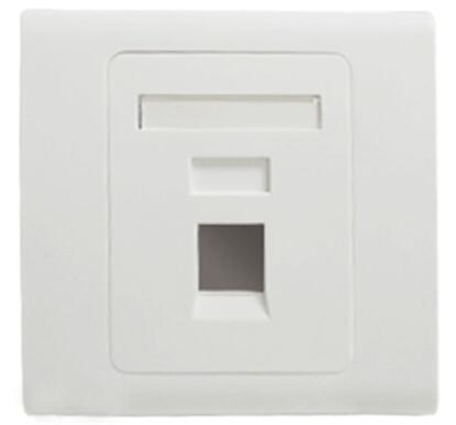 Wall Socket Plate One Port Network Ethernet LAN CAT6 Outlet Panel Faceplate RJ45