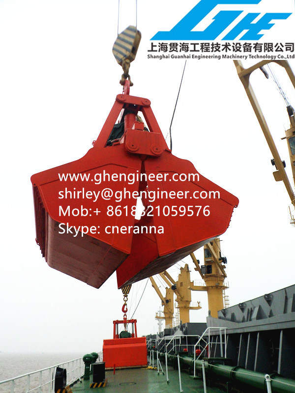30t Marine Crane Hydraulic Clamshell Grab Bucket pictures & photos