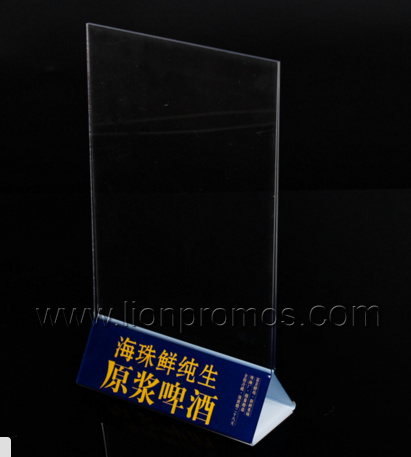 Restaurant Bar Transparent Acrylic Menu Holder pictures & photos