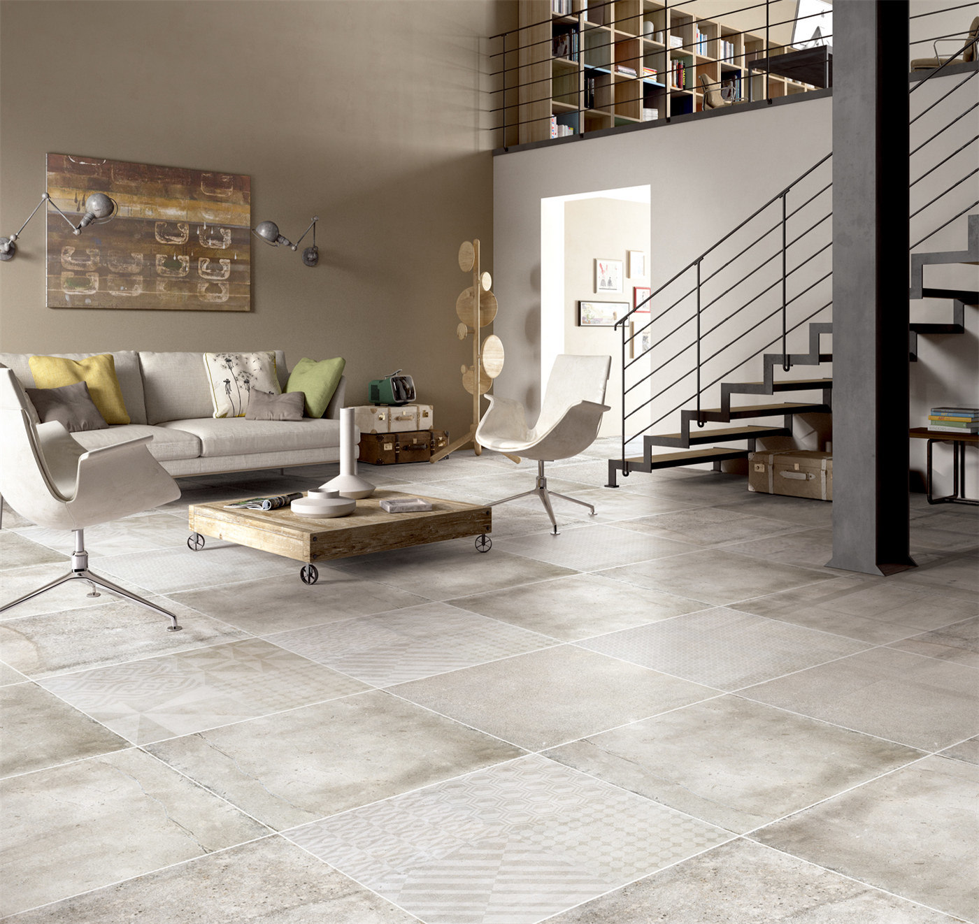 China 9X9 Grey Kitchen Floor Fireproof Glazed Porcelain Tile ...