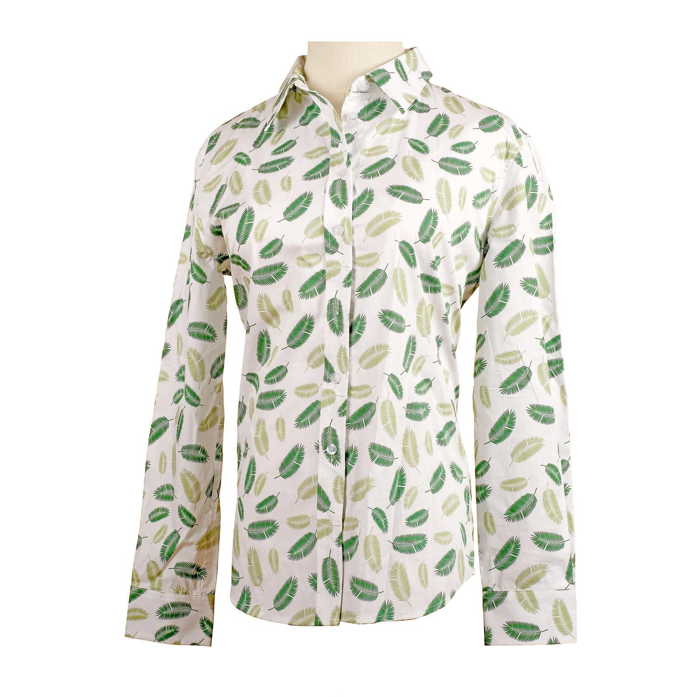 8f1ca848e6b4b Ladies Floral Print Casual Long Sleeve Cotton Button Down Shirt Blouse