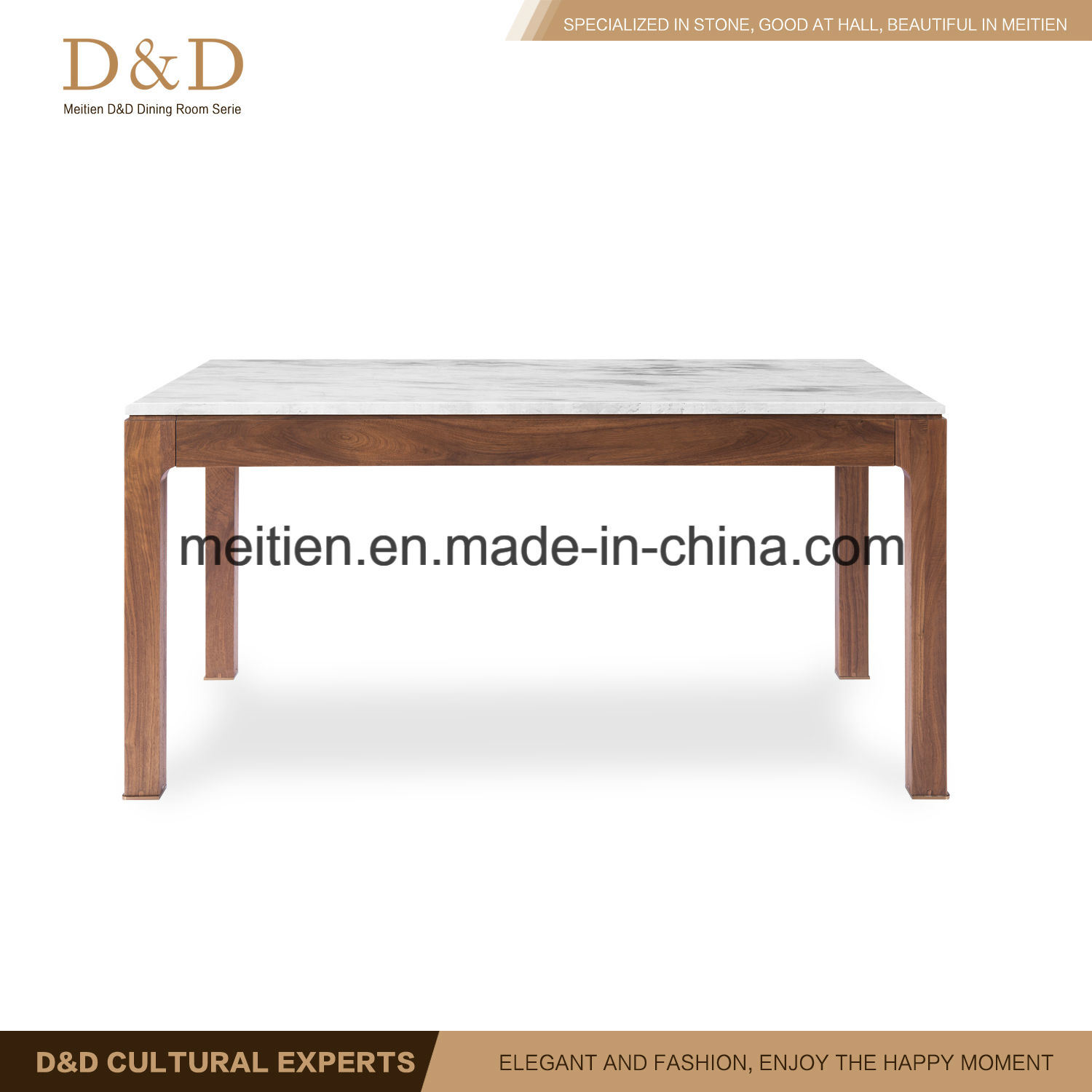 Picture of: China Walnut Solid Wood And Marble Dining Table With Wood Leg China Dining Room Furniture Dining Table
