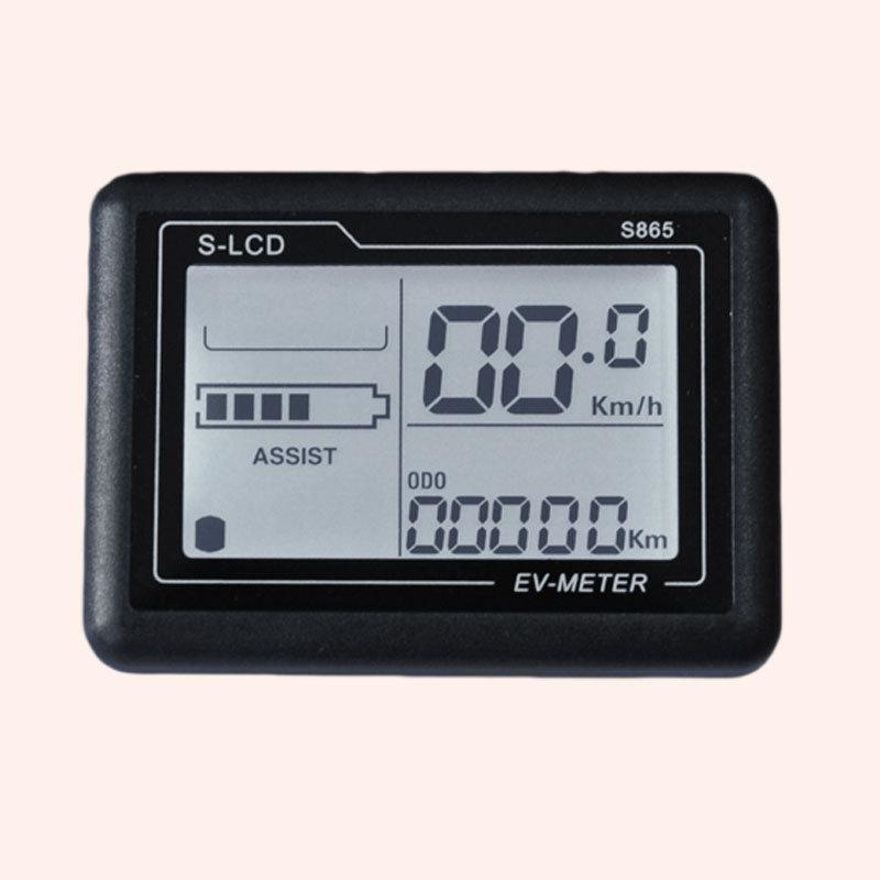 China Electric Bike Lcd Display Panel Meter S865 China Led Display Meter And Ebike Speedometer Price
