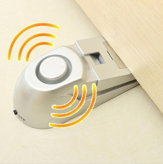 100dB Door Stop Alarm Home Security Door Stopper Warning Alarm System