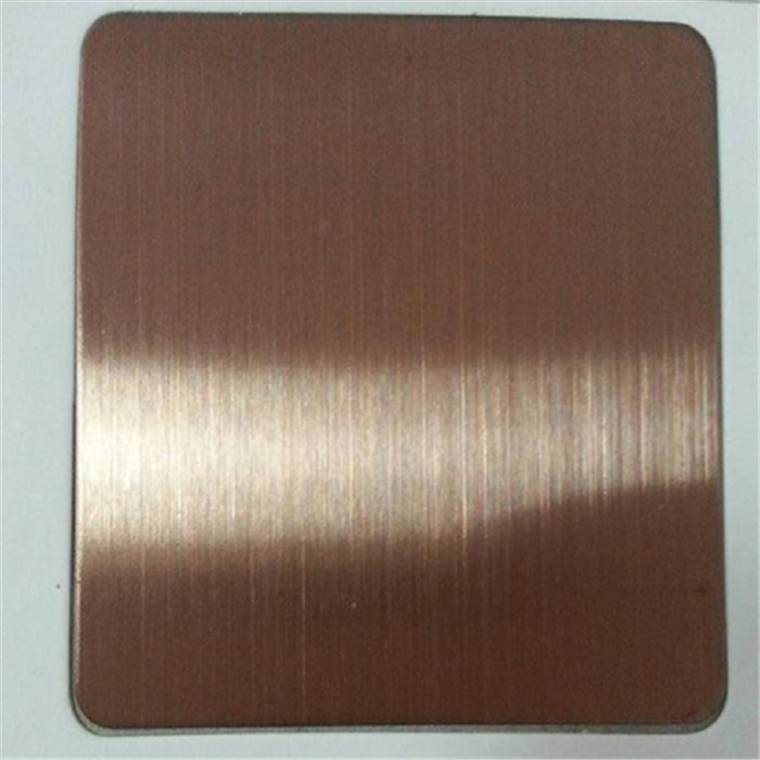 Bronze Color Stainless Steel Sheet Hairline Finish AISI 304 / AISI430 pictures & photos