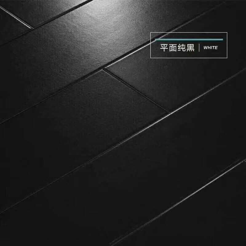 Piano High Glossy White And Black Mdf, Black Wood Laminate Flooring