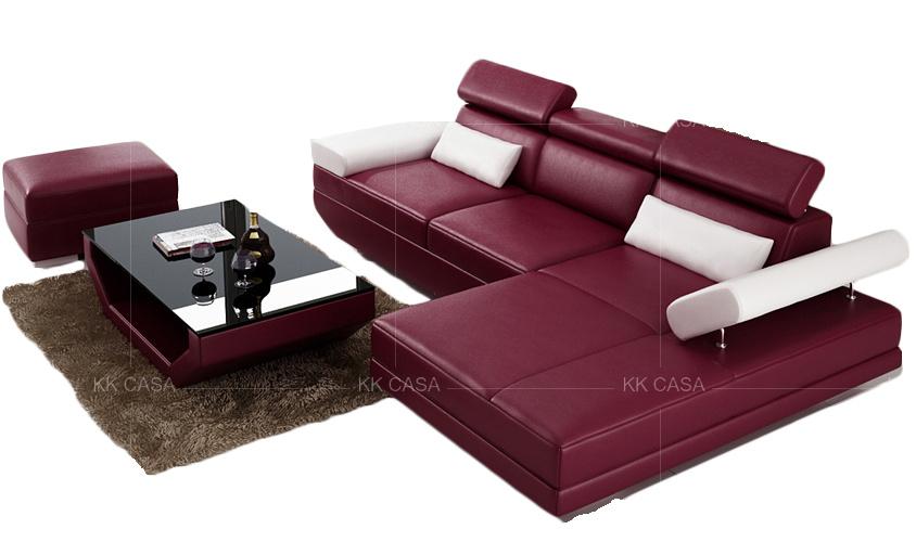 L Shape Sofa Leather Fabric