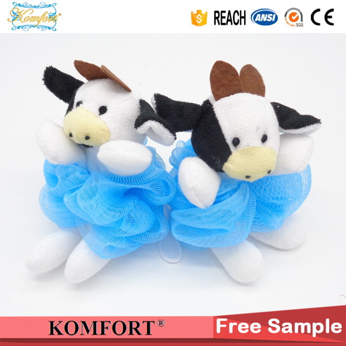 Klb-103 Shower Puff Wholesale Cow Toy Bath Sponge PE Mesh Bath Ball pictures & photos