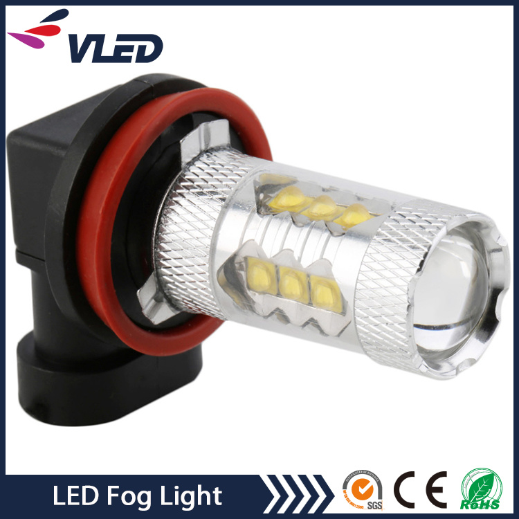 12V Auto LED Light Bulb H11 H16 H3 80W Fog Lights for Car pictures & photos