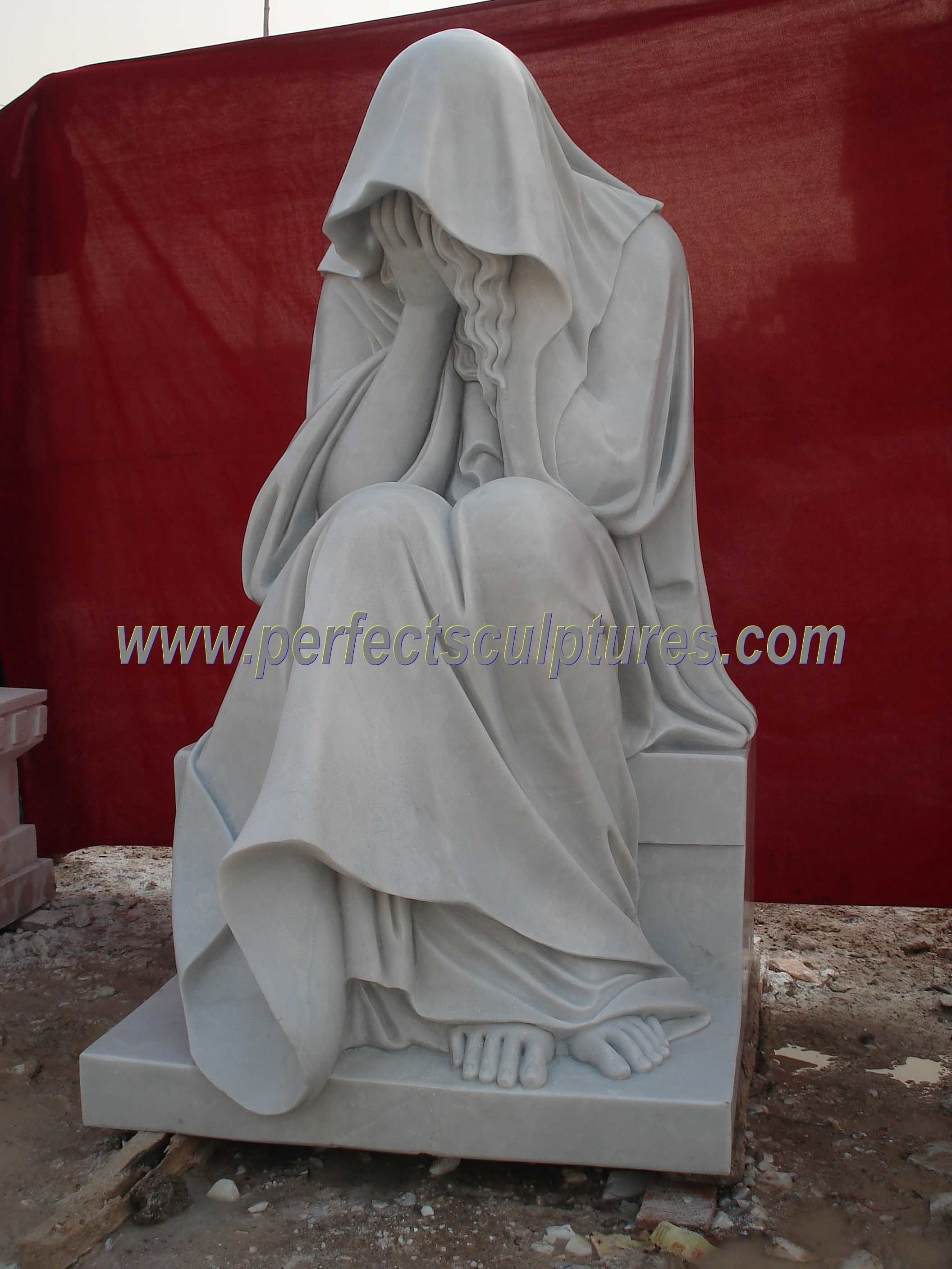 China Marble Granite Angel Statue For Cemetery Tombstone