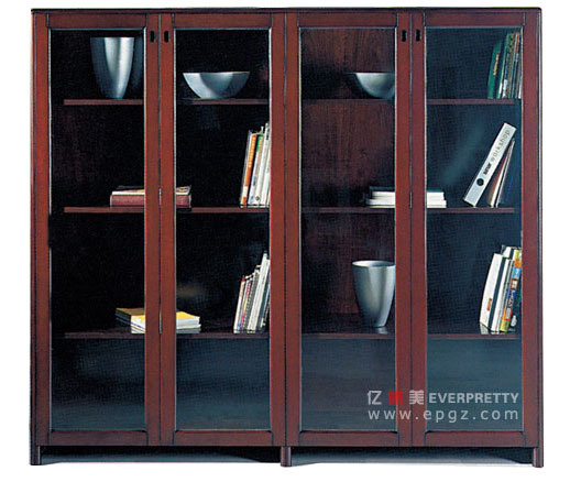 China Antique Wooden Office File Cabinet With Glass Door