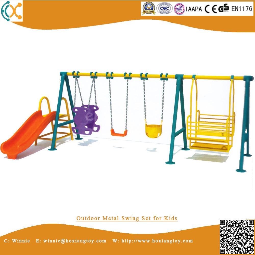 Hot Item Outdoor Metal Swing Set For Kids