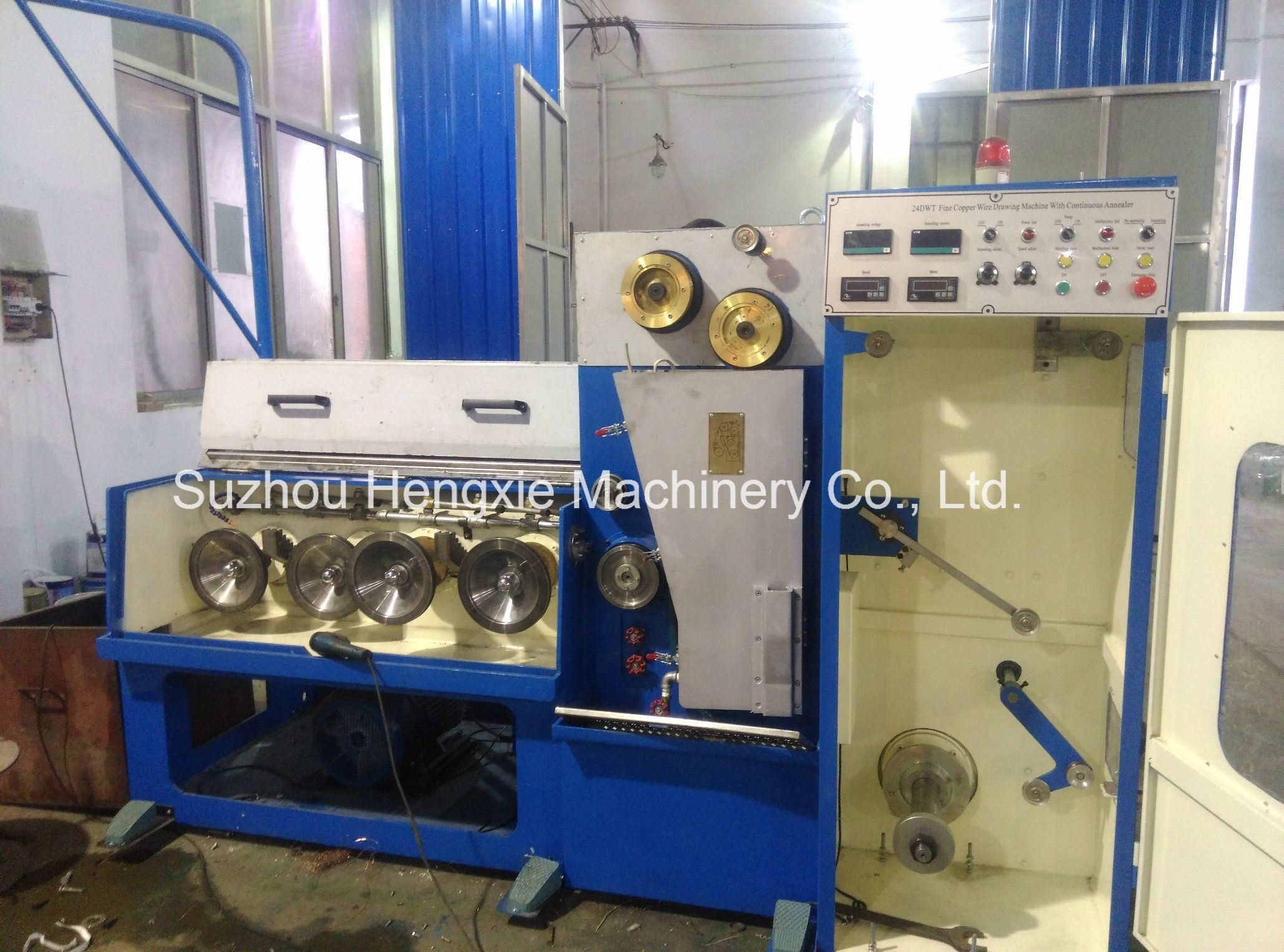 Chinese Supplier 26dwt Copper Wire Pulling Machine with Continuous ...