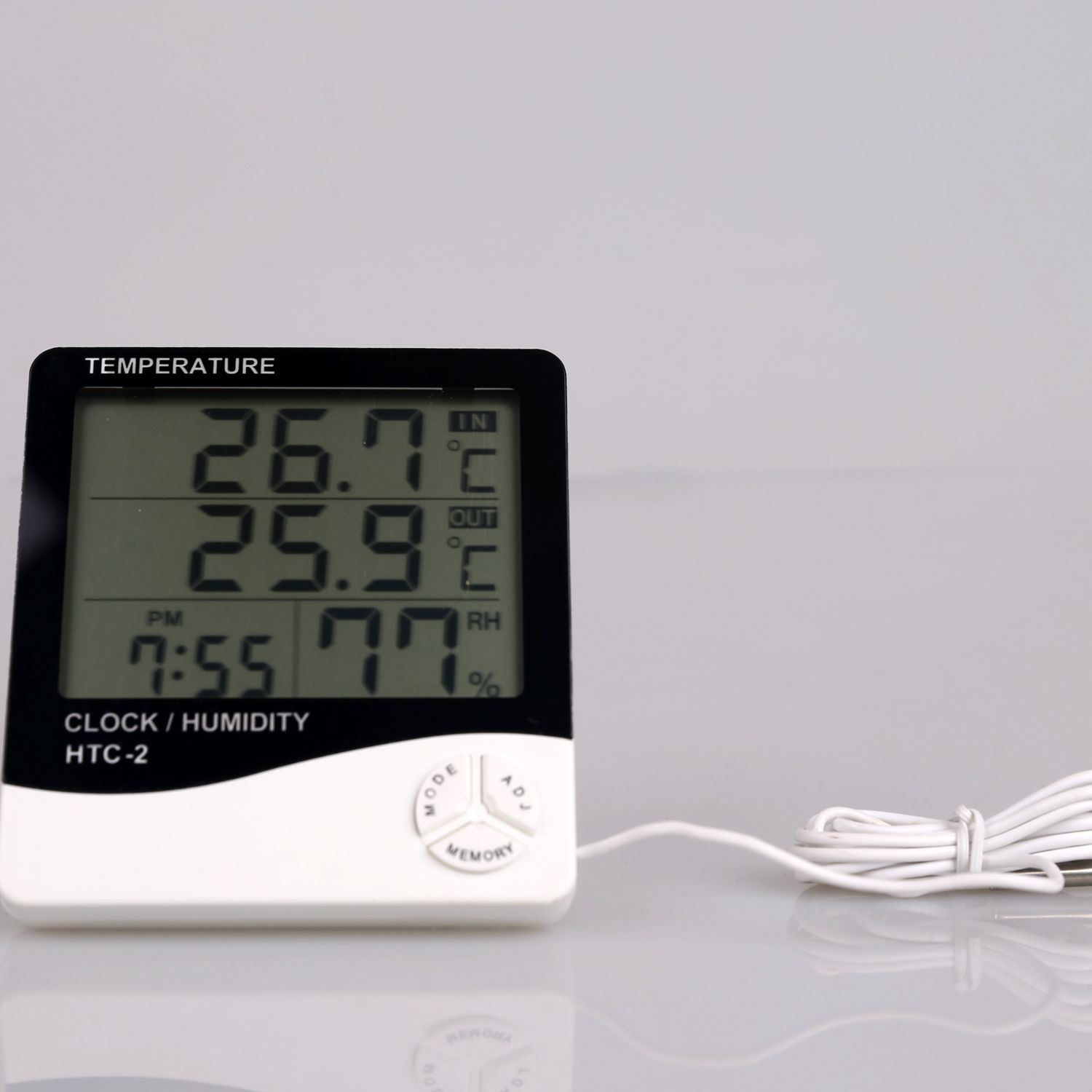 China Waterproof Digital Hygrometer Thermometer Factory Price Big Panel Lcd