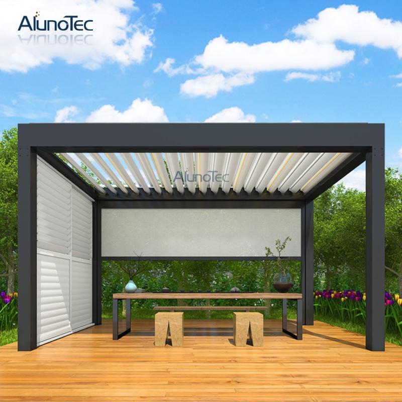China Automatic Patio Opening Cover Garden Gazebo Shelter Aluminum