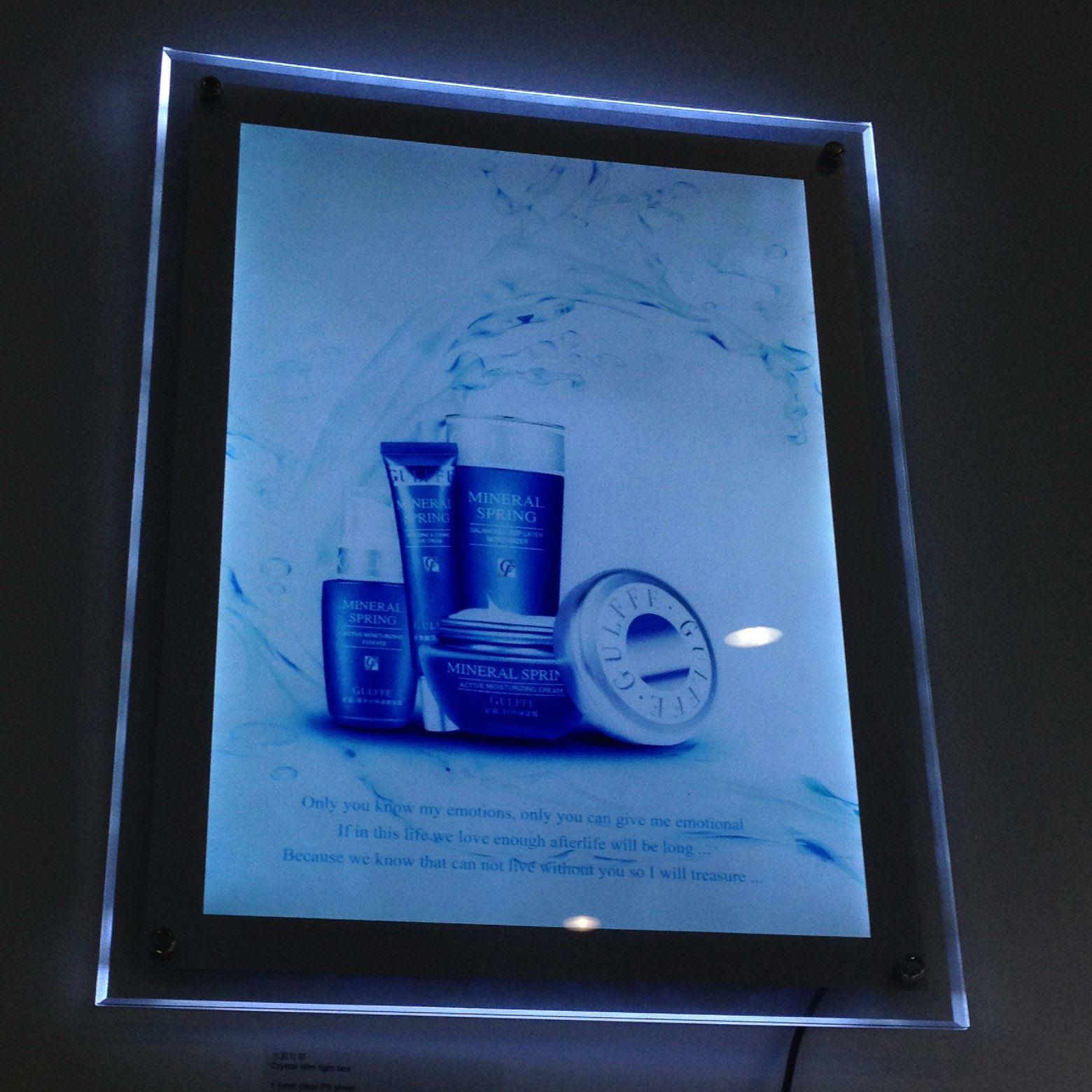 China LED Crystal Light Box Frameless Acrylic Frame Photos ...