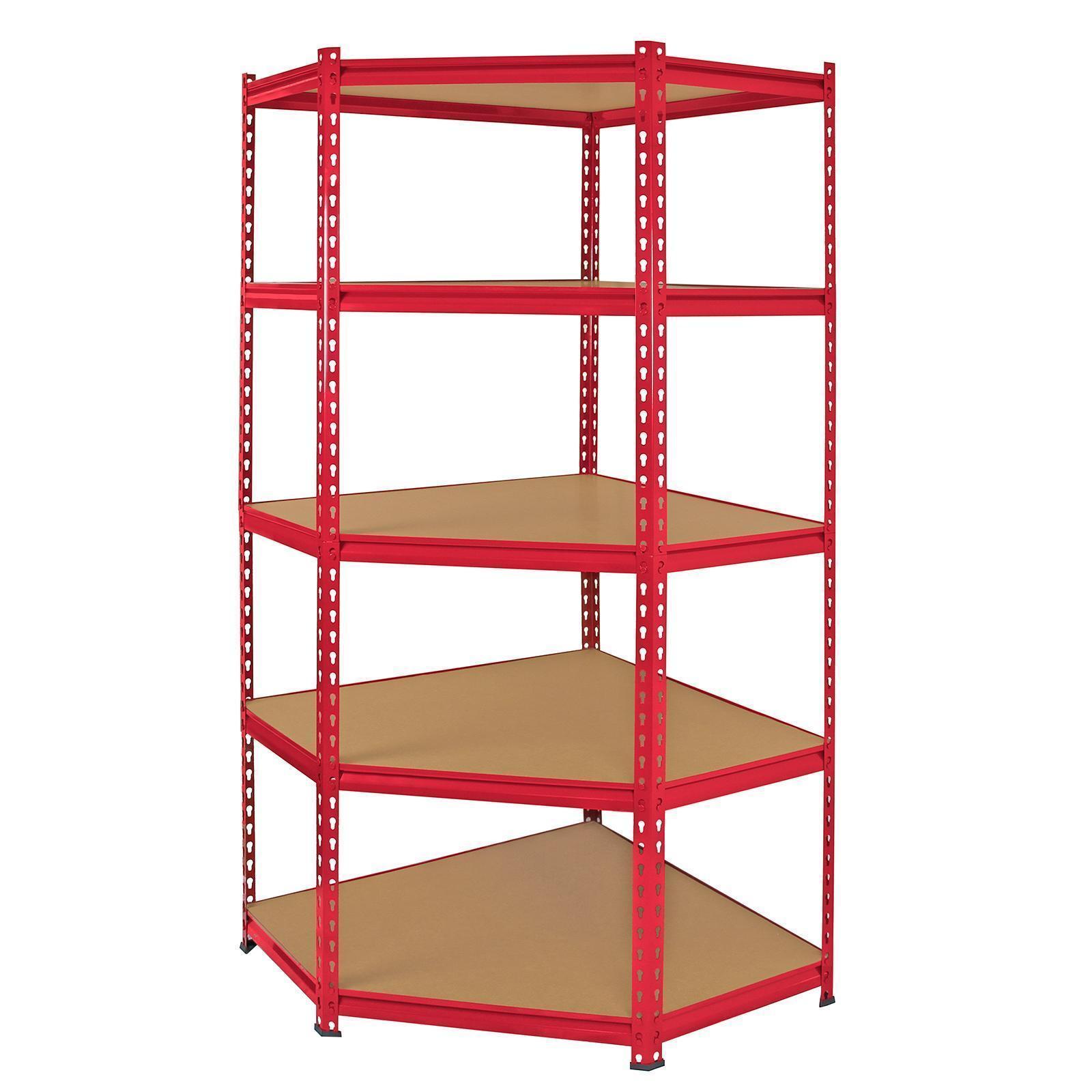 5 Tier Shelf Shelving Unit Racking Heavy Duty Storage Shelves Red