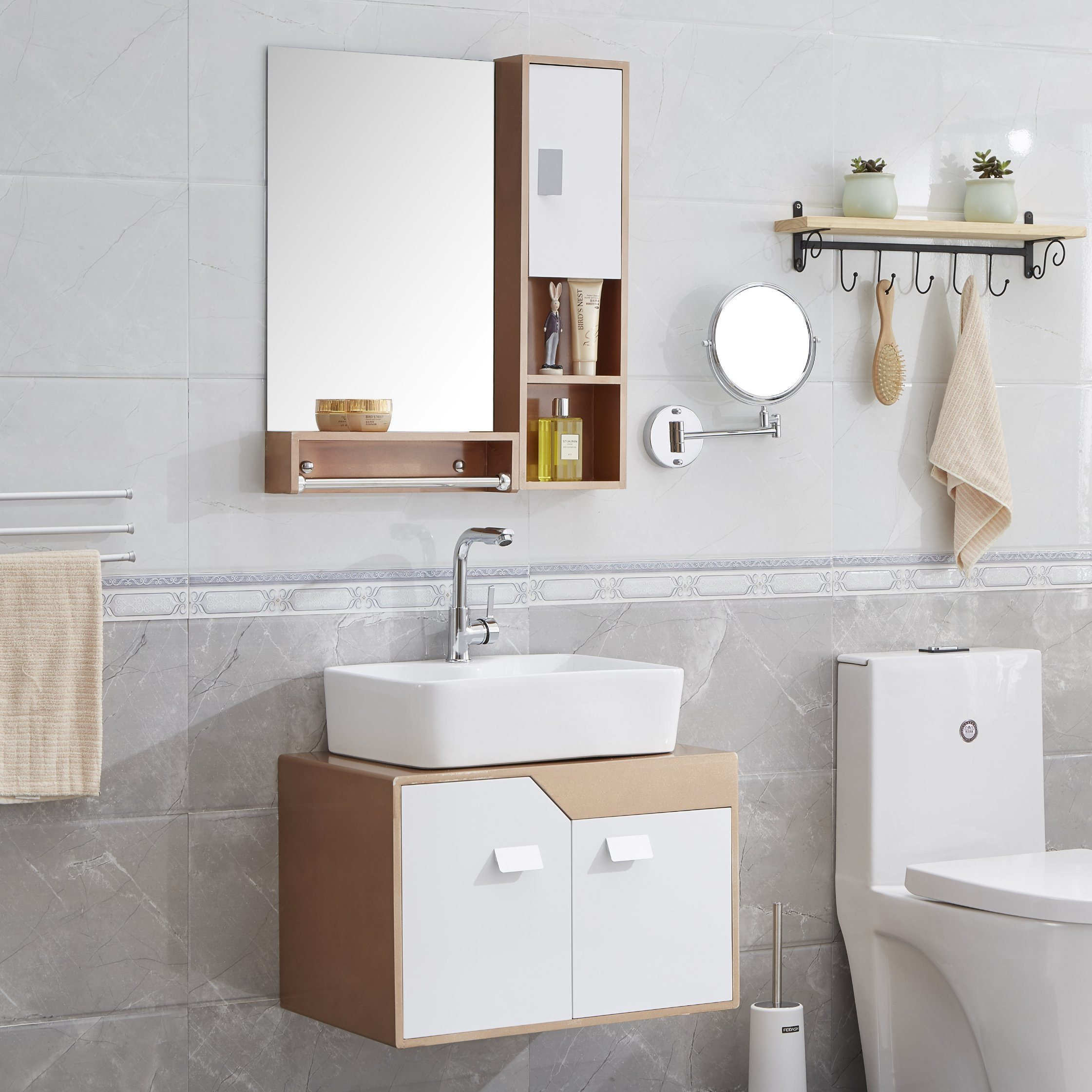 China Modern Brief Wall Mounted Pvc Bathroom Vanity China Bathroom Cabinet Bathroom Furniture