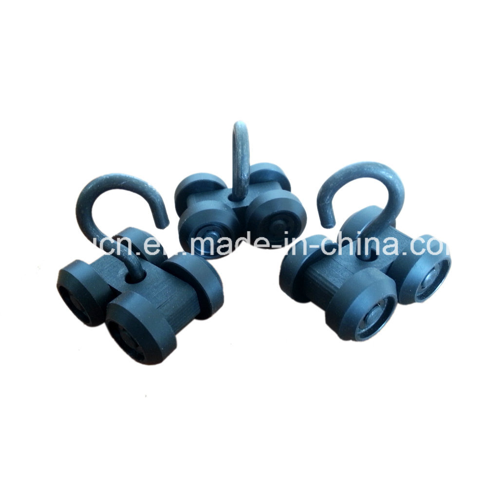 China Steel Wire Rope POM Plastic Triple Pulley Block / Top Hanging ...