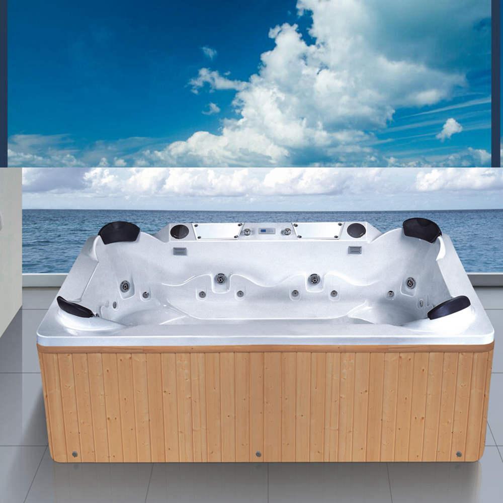 China Hot Sales Sanitary Ware Acrylic Outdoor Whirlpool Bath Tub (NJ ...