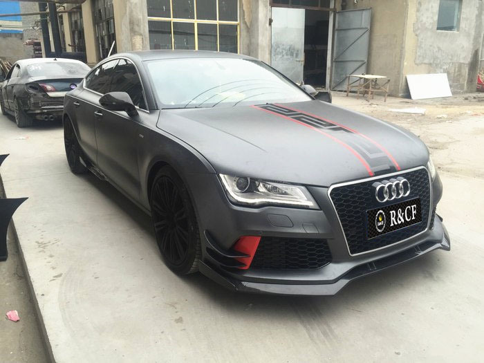 China For Audi RS7 Carbon Fiber Front Lip Abt Style