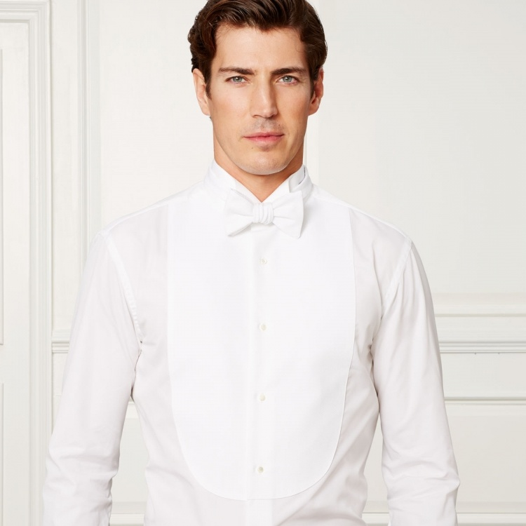 Made to Measure 100% Cotton White Dress Shirt Tuxedo Shirt for Men