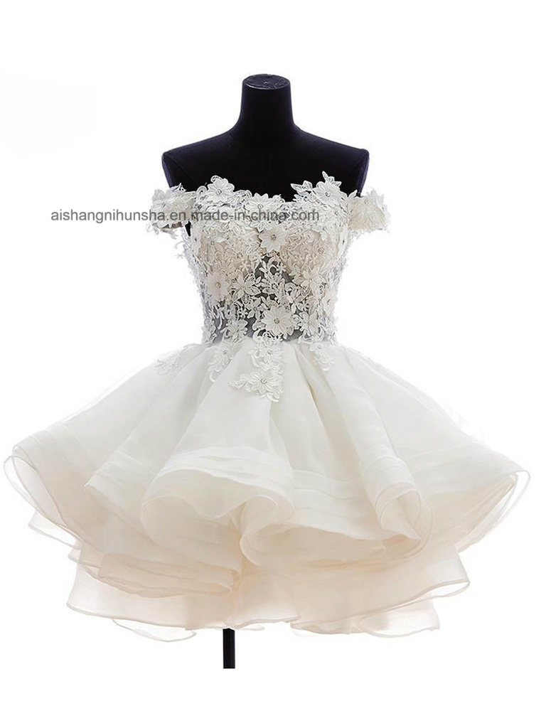 China Lovemay Women Tulle Lace Princess Short Wedding Evening Gown ...