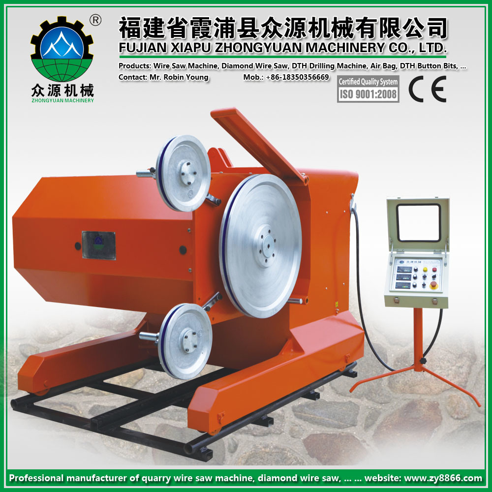China 55kw (75HP) Wire Saw Machine for Granite Marble Sandstone ...