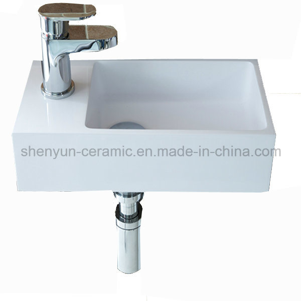 Rectangle Ceramic Wash Basin Wall-Hung Basin (MG-0950)