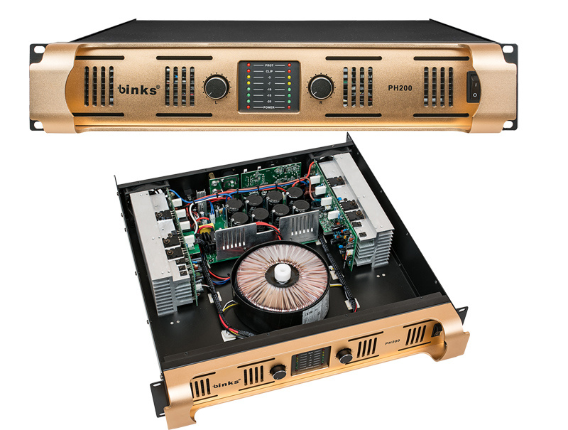 Es200 Two Channel Professional Power Amplifier