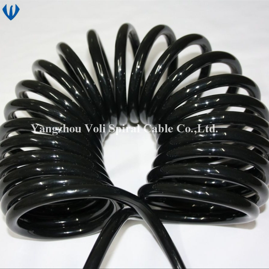 China Pvc Insulated Tpu Sheathed Copper Wire Flexible Electrical Cables Cable Electric Coiled Spiral Spring