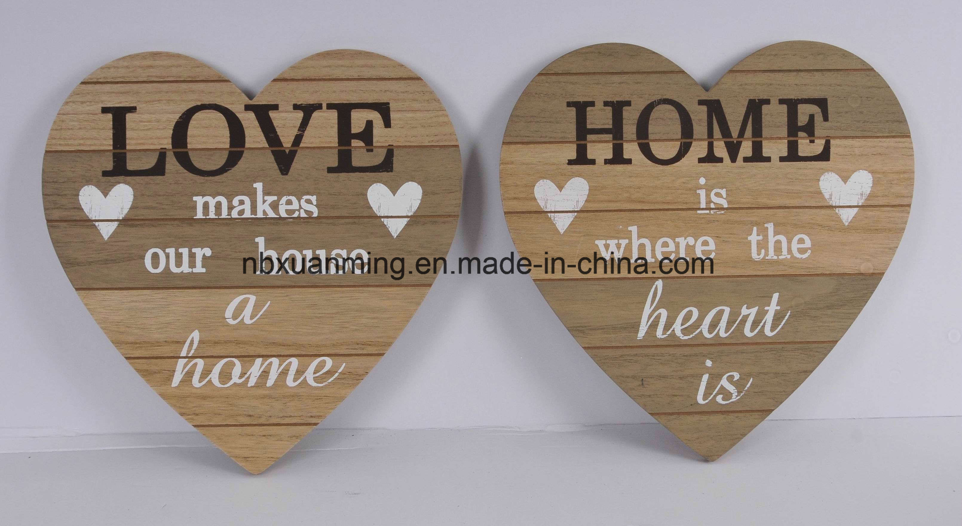 Wooden Heart Wall Plaque Decoration