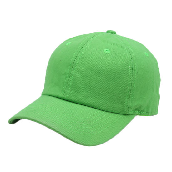 4d2f01ed247e9 Personalized Adult Kids Size Green Baseball Cap 100% Cotton Blank Hats