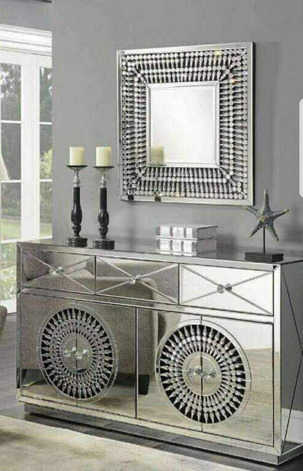New Style Mirrored Furniture Crystal Diamond Dressing Table