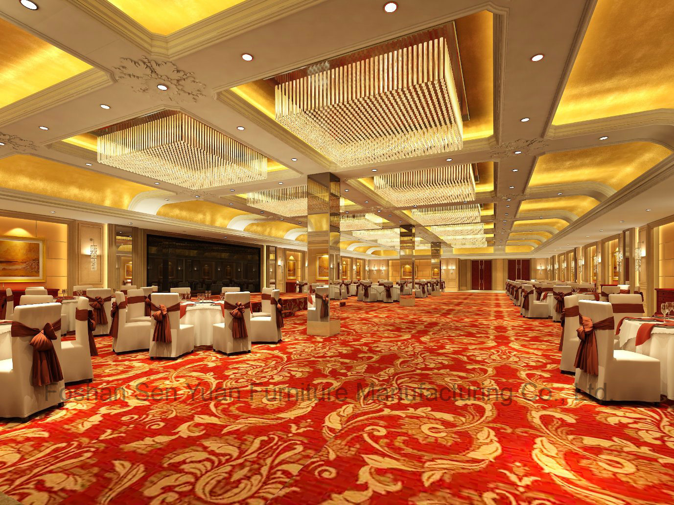 China Luxury Villa Banquet Hall Furniture Hotel Public Furniture Chair Table Customization China Public Furniture Hotel Furniture