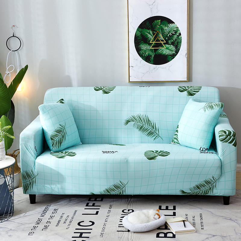 Hot Item High Quality Polyester Modern Furniture Protect Printed Color Elastic Stretch L Shape Sofa Cover Design
