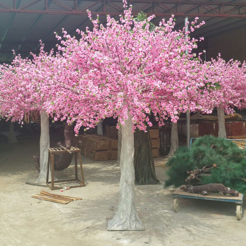 China 3 Meters Artificial Trees With Pink Cherry Blossom Peach