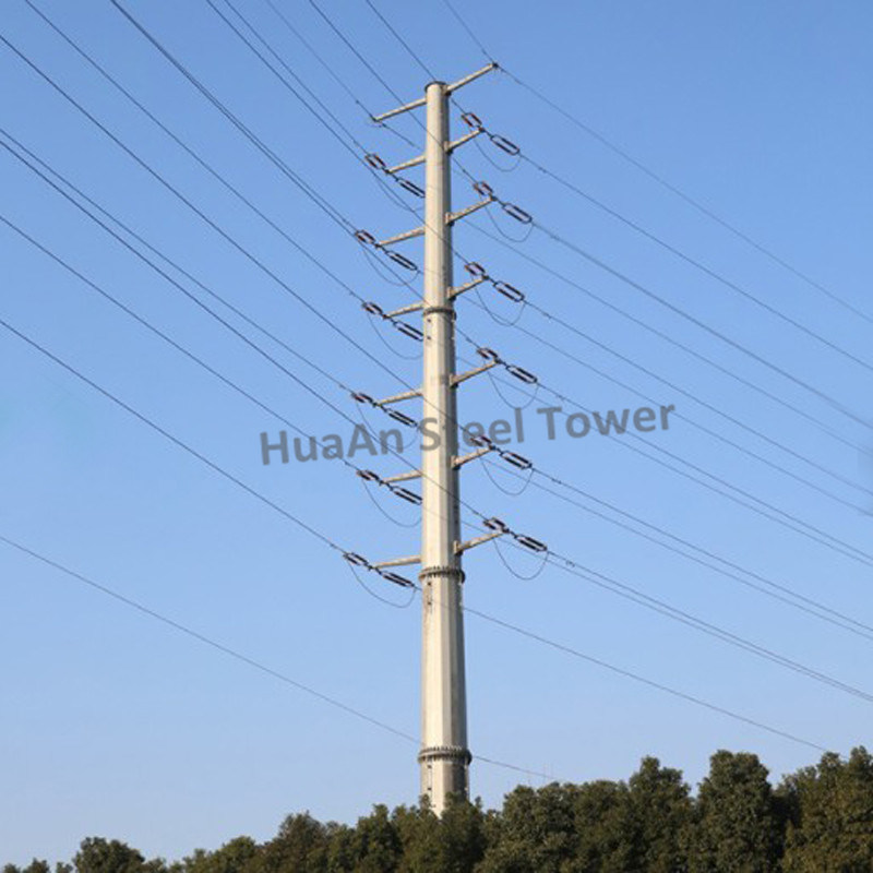 Electric Power Transmission Line Strain Type Steel Iron Monopole pictures & photos
