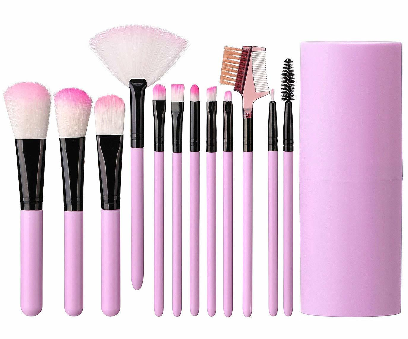 China Light Pink Black Makeup Brush Set